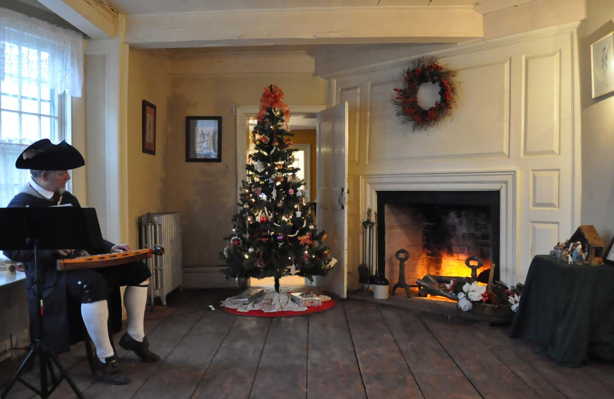 Holidays at the Abraham Staats House in South Bound Brook NJ