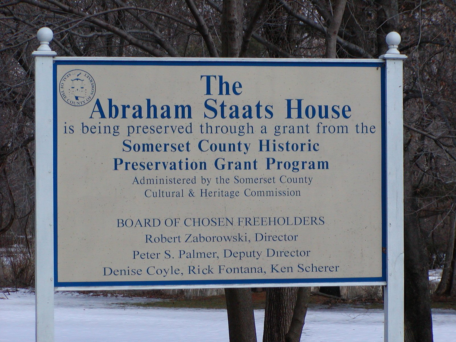 The Abraham Staats House.
