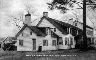 Early 20th c. postcard of the Abraham Staats House.
