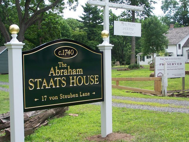 The Abraham Staats House New Sign 2017