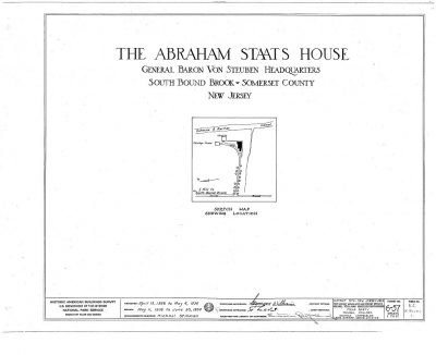 Historic American Buildings Survey (HABS) - The Abraham Staats House