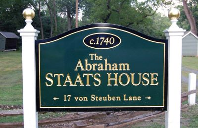 Sign for the Abraham Staats House in South Bound Brook NJ